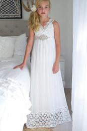 Discount cinderella wedding dress straps - Beads V Neck Straps Crystal Belt Cinderella Tulle A Line Lace Flower Girl Dress Floor Length Chiffon Pageant Birthday Go