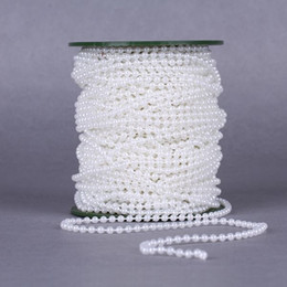 string spools UK - hopestar168 20meters 4mm Pearl Spray Strands Garland Spool Bridal Beads String For Wedding Christmas Party Centerpiece Crafting Decor