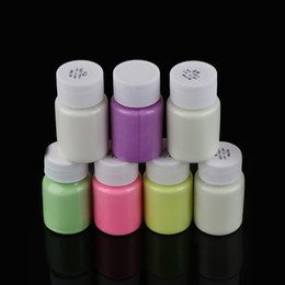 $enCountryForm.capitalKeyWord Australia - 1PC New Practical 7 Colors 30g Glow in the Dark Acrylic Luminous Paint Bright Pigment Party Decoration DIY Craft
