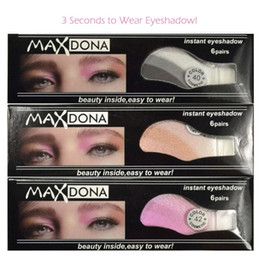 $enCountryForm.capitalKeyWord Australia - Maxdona 6 Pairs set Instant Eyeshadow Adesivor Tricolor Environmentally Eye Shadow Temporary Tattoo Stickers Eyes Makeup Product