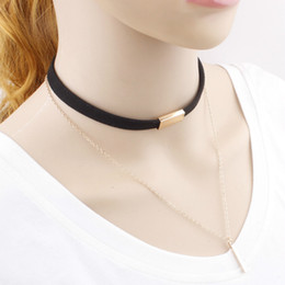 $enCountryForm.capitalKeyWord NZ - Choker Necklaces for Women Black Brown South Korea Velvet Multi-storey Tassel Chokers Fashion Chokers Necklaces Jewelry Gifts