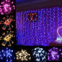 Wholesale led christmas lights outdoor nz buy new wholesale led 8m x 5m 1280 led outdoor home party christmas xmas string fairy garlands strip party wedding curtain lights lighting 8 modes 6piece lot aloadofball Gallery