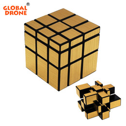 Puzzles Magnets NZ - Global Drone 3X3X3 Wire Drawing Style Magic Mirror Cube Magic Challenge Puzzle Magnet Balls Spacer Beads Cube Magic Cube