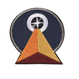 StereoScopic bag online shopping - Embroidery Patch Stereoscopic Triangle Sundial Sew Iron On Patches Embroidered Badges For Bag Jeans Hat T Shirt DIY Appliques Decoration