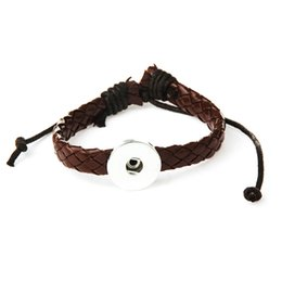 $enCountryForm.capitalKeyWord UK - charm leather bracelets 18mm snap button DIY Metal Snap Button Bracelet Watches watchband TZSZ8