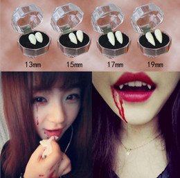 Horrific Fun Clown Dress Vampire Teeth Halloween Party Dentures Props Zombie Devil Fangs Tooth With Dental Gum on Sale
