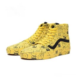 plastic peanuts UK - 2018 Vault X Peanuts Snoopy Old Skool Sk8-Hi Mens Designer Sports Skate Shoes Sneakers Men Women Canvas Casual Skateboard Trainers