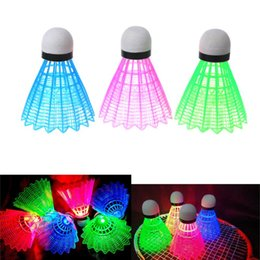 $enCountryForm.capitalKeyWord Australia - 3pcs LED Luminous Badminton Dark Night Colored Plastic Foam Glowing Shuttlecocks Badminton Accessories