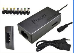 Опт Универсальный 96 Вт ноутбук ноутбук 15 в-24 В переменного тока зарядное устройство адаптер питания с 8 разъемами 10 шт./лот