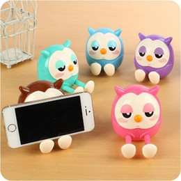 Green Money Box Australia - Promotion Cute Owl Phone Stand Holder universal Phone Bracket Holder Accessories Saving Money Box Phone Coin Box holder 397
