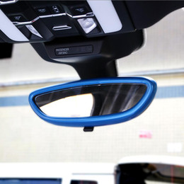 rearview mirror car sticker Canada - Car-styling Inner Rearview mirror Cover frame decoration cover trim strip 3D sticker decals for Porsche Cayenne Macan panamera accessories