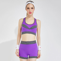 2a00937704f Summer Women Sport Suit Sexy Wireless Soft Bra With Shorts Twp Piece a Set  Sport Wear Fit For Running Yoga Clothing