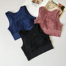 27b362dfb84 Black Satin Tank Top Australia - Fashion Women Workout Bra Sexy Solid  Seamless Fitness vest Elasticity