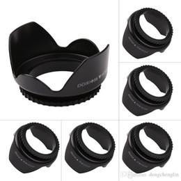52mm 55mm 58mm 62mm 67mm Professional Camera Lens Hood Flower Shape Screw Mount Lens Hood Sunshade Light Shield Protector on Sale