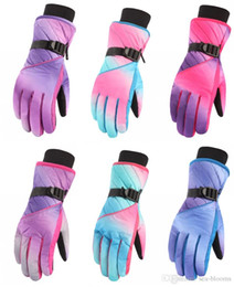 Wrist Band Cycling Australia - Winter Ski Gloves Breathable Anti-Slip Waterproof Warm Gloves Outdoors Snowboard Snow Women's Gloves With Wrist Band Christmas Gift H910R