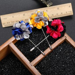 $enCountryForm.capitalKeyWord Canada - New Men Fashion Flower Brooch Multicolor Business Suit Brooch Lapel Pin Fashion Wedding Accessories Gift for Love