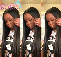 swiss lace for wigs Canada - Silky Straight Full Lace Wigs Glueless Brazilian Full Lace Human Hair Wigs For Black Women 130% Lace Front Human Hair Wigs