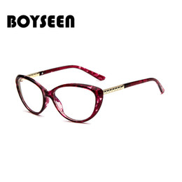 Discount sexy women eyeglasses - BOYSEEN Ladies Sexy Cat Eye Glasses Frames For Women Optical EyeGlasses Fashion Eyewear Optical glasses 2913