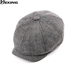 95bf3d1519b Tweed Gatsby Newsboy Cap Men spring summer Hat Golf Driving Flat Cabbie Flat  Unisex Berets Hat peaky blinders hat
