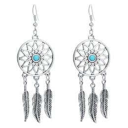 8d6f83ff2 12Pcs Feather Tassel Dangle Earrings Dream Catcher Shaped Ear Plugs Pendant  Fashion Women Ears Piercing Jewerlry Accessories