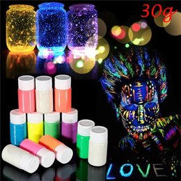$enCountryForm.capitalKeyWord Australia - 30g Glow in the Dark Acrylic Luminous Paint Bright Pigment Party Decoration DIY Craft