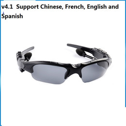 SunglaSSeS chineSe online shopping - V4 Wireless Bluetooth Outdoor Sunglasses Sun Glasses Stereo Handsfree Headset Earphones Earbuds for smart phone in retail HBS