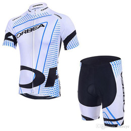 padded riding shorts 2019 - ORBEA team Cycling Short Sleeves jersey (bib) shorts sets 2018 new summer Quick Dry Mountain Bike jacket riding suit Gel