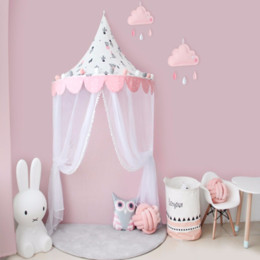 $enCountryForm.capitalKeyWord NZ - Baby Crib Netting Nordic Style Cotton Reading Corner Half Moon Tent Baby Cottage Game House Children Tents Bed Mantle Bedding