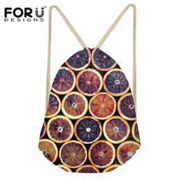 $enCountryForm.capitalKeyWord NZ - FORUDESIGNS Blood Oranges Pattern Small Drawstring Bag for Girls Boys Casual Shoes Storage Backpack Sack Kids Daily Travel Cinch