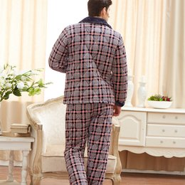 31a7445b2b pijama masculino verano plus size pijama plaids men winter flanel warm  pajamas set sleepwear mens casual long-sleeved