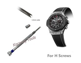 Head blades online shopping - Watch Screwdriver for H screw Hublot Watch Bezel Band Strap Repair Tool double headed blade ideal for watch repair