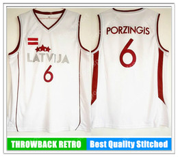 EU New 6 Latvija Team Kristaps Porzingis Jersey Mens Basketball Jersey  White Vintage stitched Shirt Classic european TOP 9b3afaea9