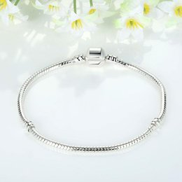 $enCountryForm.capitalKeyWord Australia - 16-23CM 925 Sterling Silver Bracelets 3MM Snake Chains Fit Charm European Beads Bangle Bracelet For Men & Women Jewelry Gift
