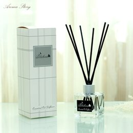 Stick Diffuser NZ - 3pcs lot 30ml Aromatherapy Suit Wholesale Fragrant Home Furnishing Articles Reed Diffuser with Black Rattan Sticks Home Decor