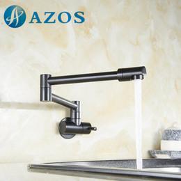 Nickel Kitchen NZ - Folding Swing Pot Filler Articulating Basin Tap Wall Mount Kitchen Faucet Oil Rubber Bronze,Nickel Brush, Chrome Polish DLCF002Z