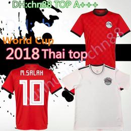 e29afa500 New 2018 Egypt Jersey soccer M. SALAH world cup Home Red 17 18 KAHRABA  national team men short sleeve footbal SHIRT maillot de foo customize