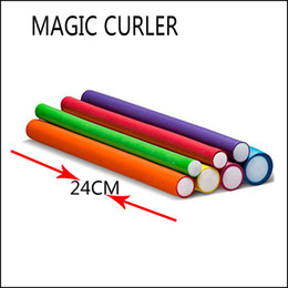 Hair Rollers Curling Rods NZ - Best selling new universal bar Magic roll curling rod Rubber curling iron diy roll hair tool Curly hair spot wholesale