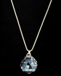 $enCountryForm.capitalKeyWord Australia - Hot style Time glass crystal ball wish necklace pendant collarbone chain wholesale crystal necklace fashion classic exquisite
