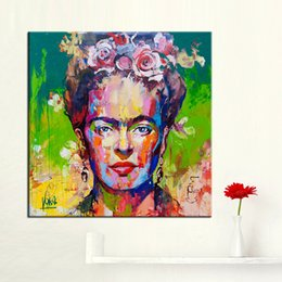 Chinese  Frida Kahlo Wall Art Oil Painting Wall Pictures for Living Room framless Wall Art Posters and Prints Canvas Painting manufacturers