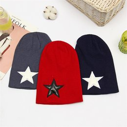 2b245300df3 Winter Men Women Five Pointed Star Wool Cap Comfortable Soft Solid Color Knitted  Hat Outdoor Driving Travel Warm Beanies 4 3hy ff