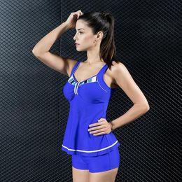 $enCountryForm.capitalKeyWord Canada - New Split Women's Fashion Strap Swimsuit Two-Piece Swimsuit High Quality Conservative Plus Size Swimming Wear Sport Vest Swimwea