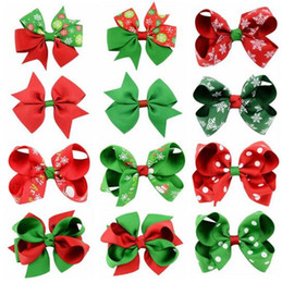 $enCountryForm.capitalKeyWord NZ - Christmas kids Hair Bow Boutique GirlsHair Clips For Baby Girls Toddlers Cute Hair Accessories 12 Styles