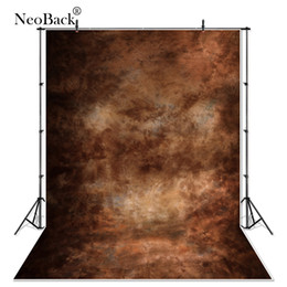 spray painted backdrop 2018 - NeoBack 6x12ft vinyl portrait brown tone photography background Black texture background wall backdrops for Photo studio
