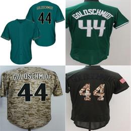 Baseball Arizona Canada - 2018 New Mens Arizona #44 Paul Goldschmidt Top Quality Green Camo Baseball Jersey Wholesale