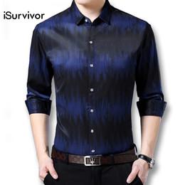 Men Slim Fit Fashion Shirts NZ - iSurvivor 2018 Men High Quality Slim Fit Shirts Hombre Camisa Masculina Male Casual Fashion Long Sleeve Smart Casual Shirts Men