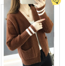 Free send 2018 new style Korean of the spring and autumn cardigan coat woman  loose and comfortable sweater 2e745ed34