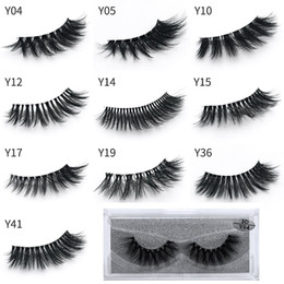 wholesale eyelashes transparent NZ - Newest makeup 3D Eyelashes Eye lash Transparent Plastic Extension Sexy 10styles Eyelash Full Strip Eye Lashes DHL shipping