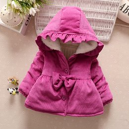 snowsuit infant boy NZ - New Year Christmas Baby Girl Clothes Children Clothing Cute Bow Hooded Thick Jacket Kids Snowsuit Baby Girls Winter Coat Infant