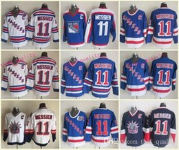 New New York Rangers Mark Messier Hockey Jerseys 1991 CCM Vintage 11 Mark  Messier Jersey NYR Blue 75th Stitched C Patch 74fa9f5c8