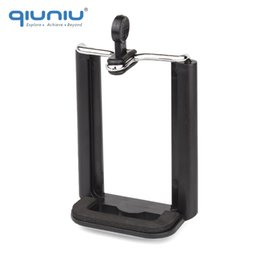 cell phone tripod holder 2019 - QIUNIU Universal Mobile Phone Clip Holder Mount Bracket Adapter for Smartphone Cell Phone Tripod Stand Camera Monopod ch